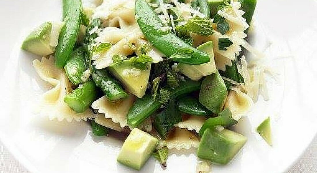 Asparagus Snap Pea and Avocado Pasta