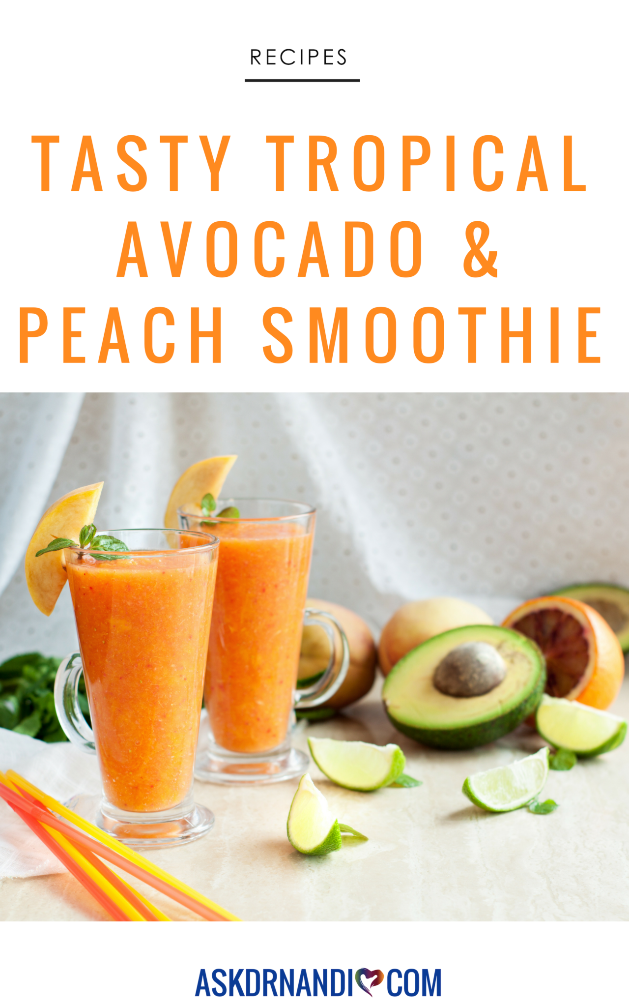 This Tropical Avocado & Peach Smoothie recipe is quickly becoming a favorite of the Ask Dr. Nandi Show!