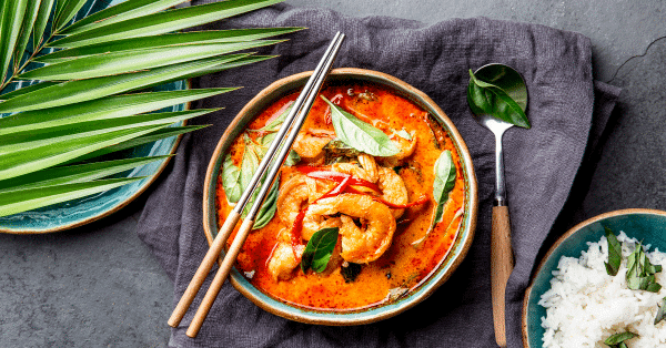 Salmon & Shrimp Red Curry
