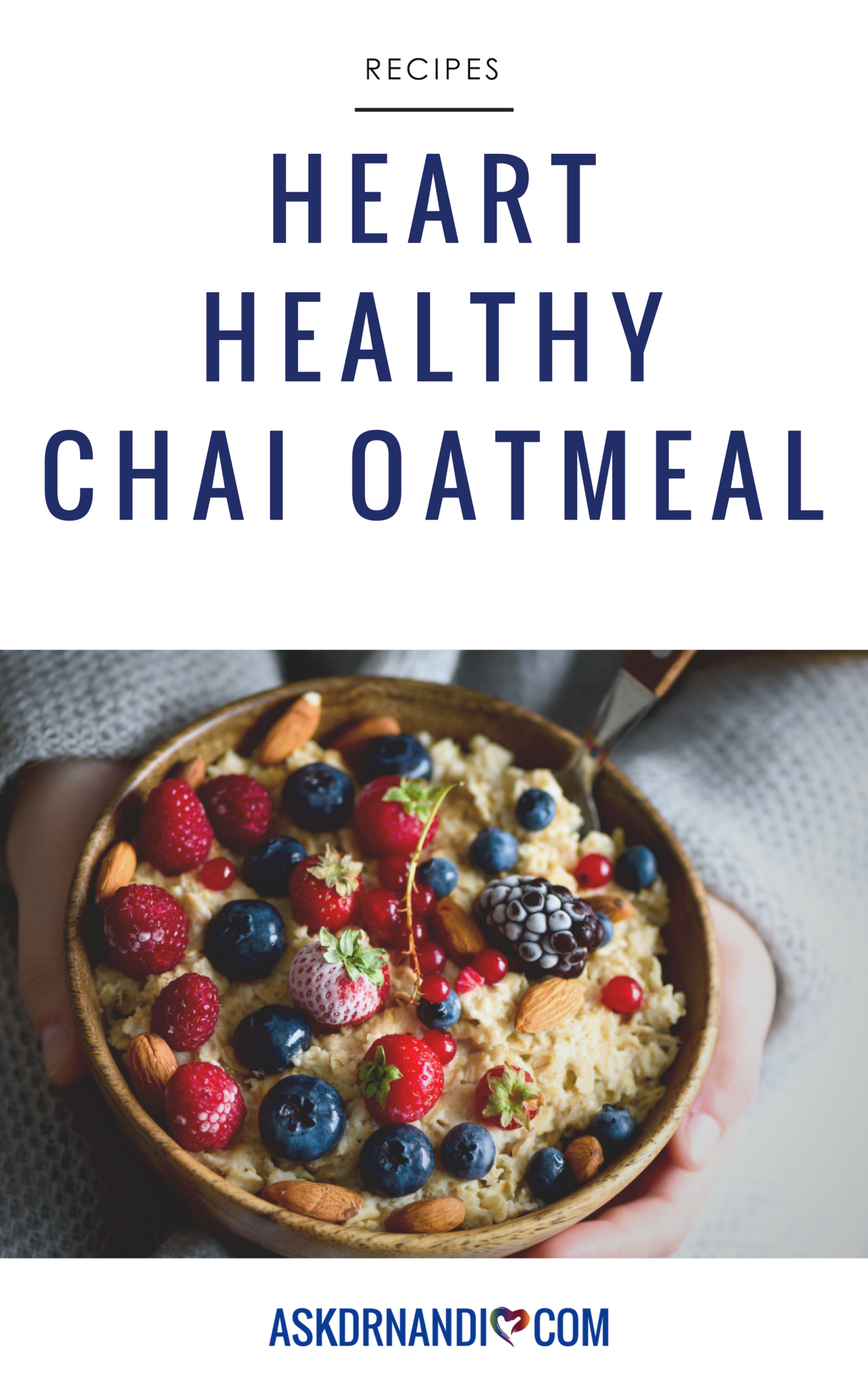 Add some delicious flavor to your morning oats with Dr. Nandi\'s Chai Oatmeal recipe!