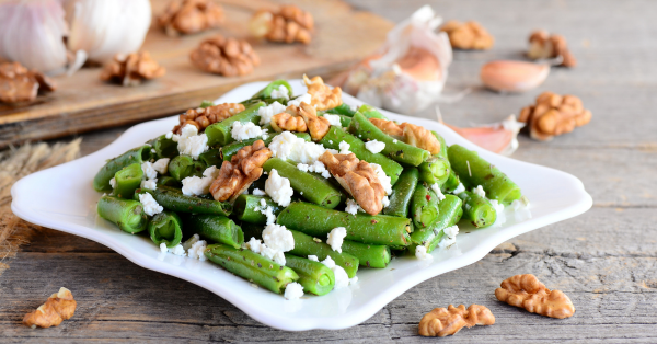 Green Bean Salad with Goat Cheese & Walnuts