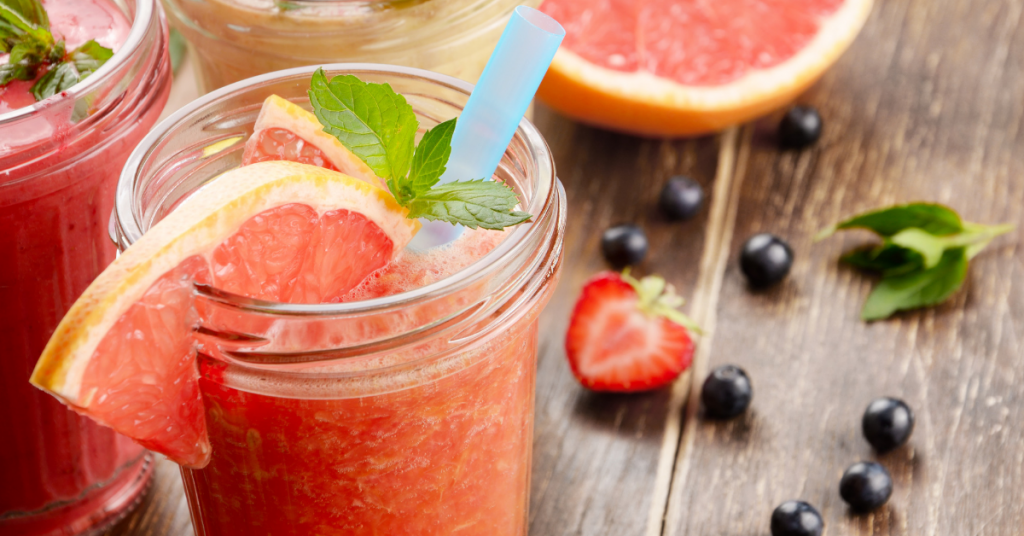 Grapefruit Strawberry Smoothie