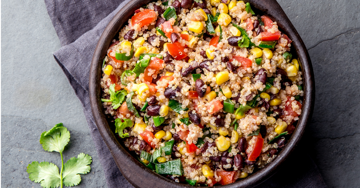 Three Bean Quinoa Salad