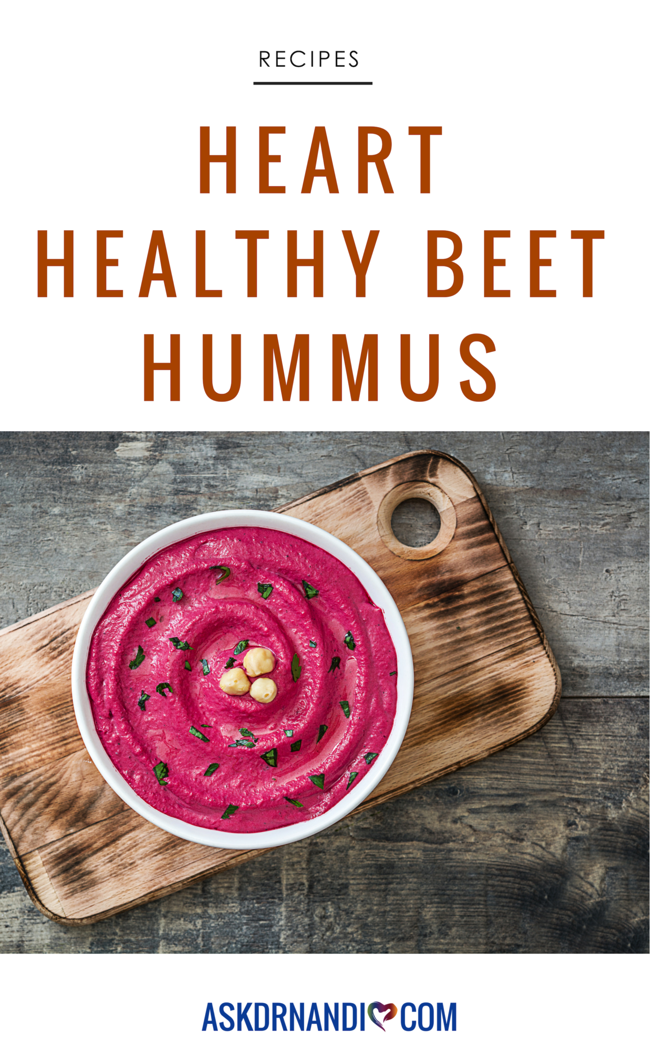 Take traditional hummus up a notch with this beautiful Beet Hummus & Goat Cheese recipe!