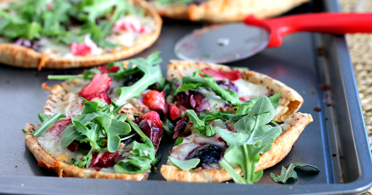 Blueberry & Strawberry Pizza Crisps