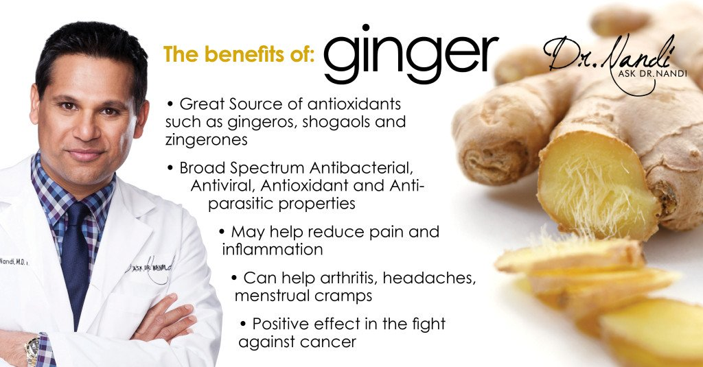 Dr. Nandi discusses the benefits of Ginger