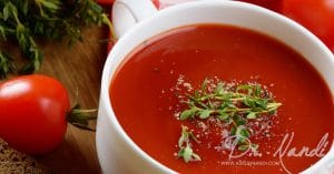 Dr. Nandi's Gazpacho with Grilled Tomatoes