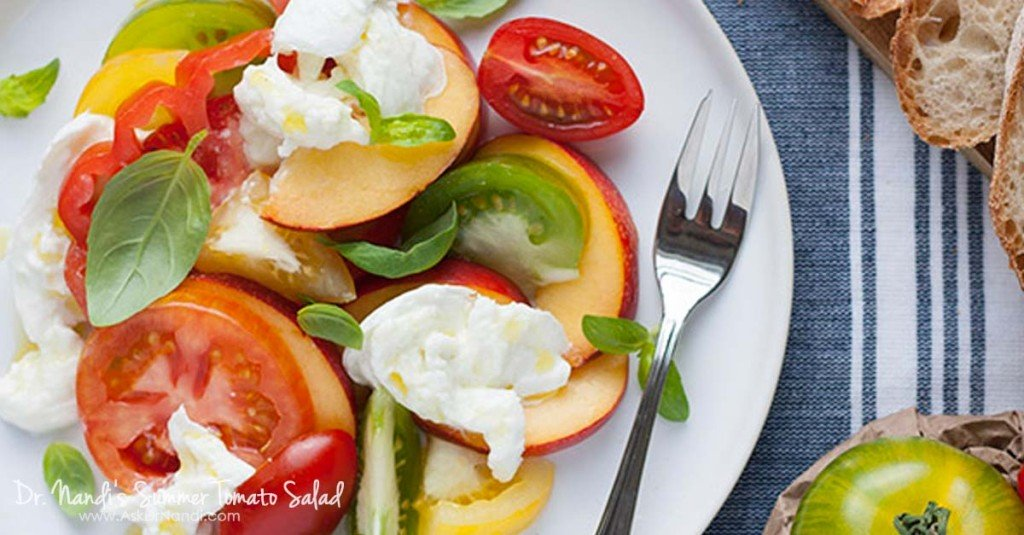Tomato, Nectarine Salad