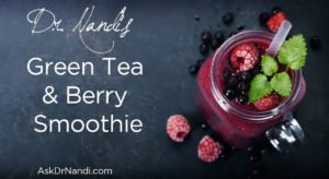 Delicious, Refreshing, and Healthy Green Tea and Berry Smoothie