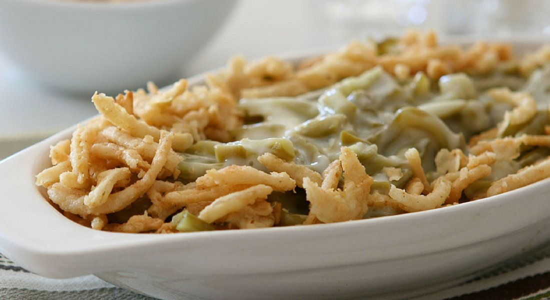 Healthy Thanksgiving Green Bean Casserole