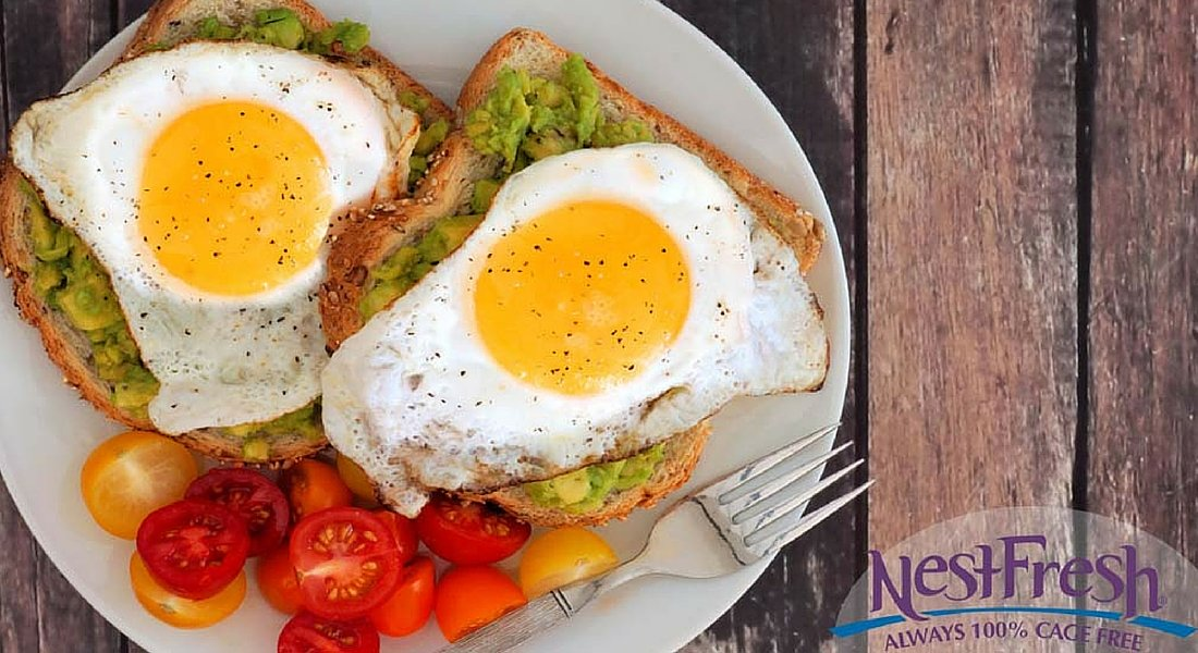 Fried Egg and Avocado Toast with Cherry Tomatoes