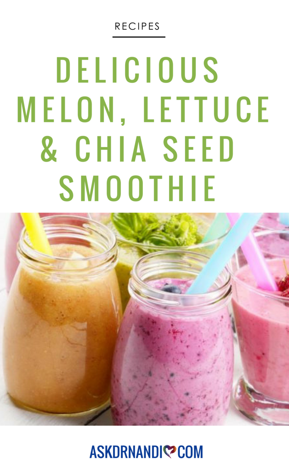 Melon, Lettuce & Chia Seed Smoothie