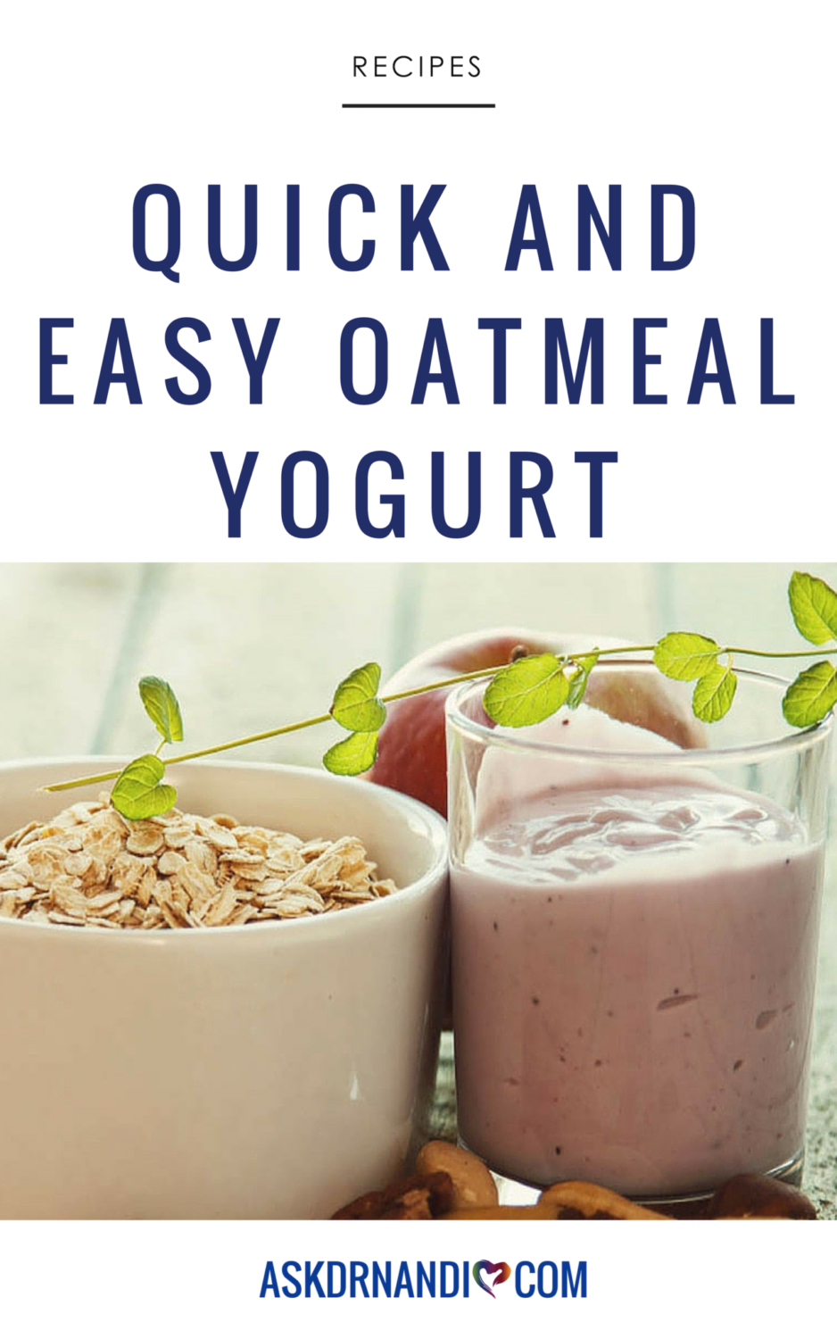Dr. Nandi's Oatmeal Yogurt