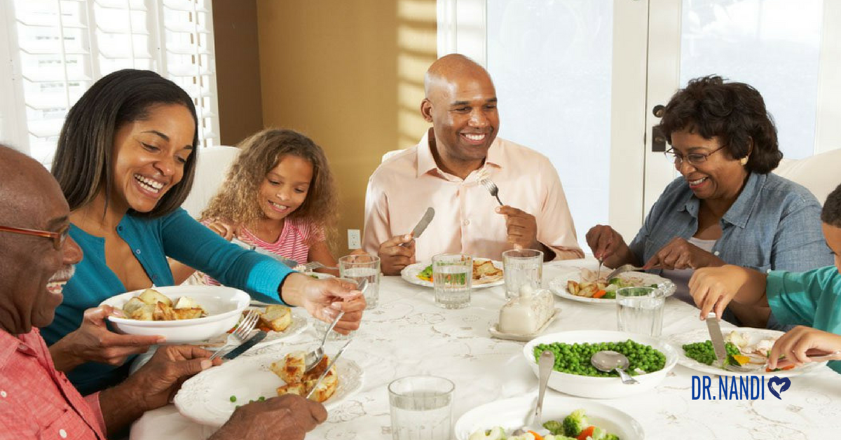 Family meals, eating together