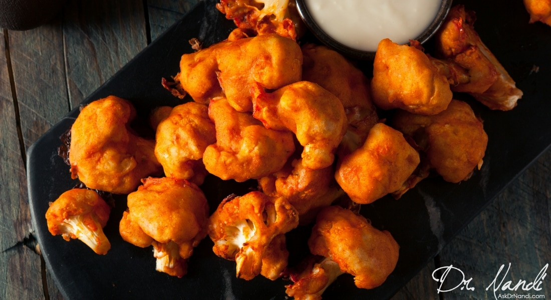 Healthy Vegan Buffalo Cauliflower Wings