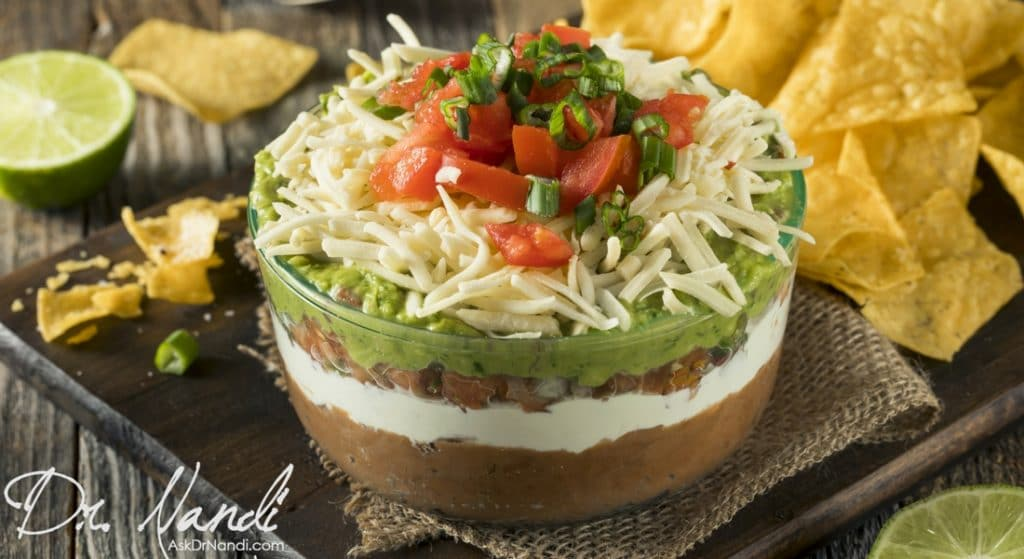 Healthy 7 Layer Bean Dip