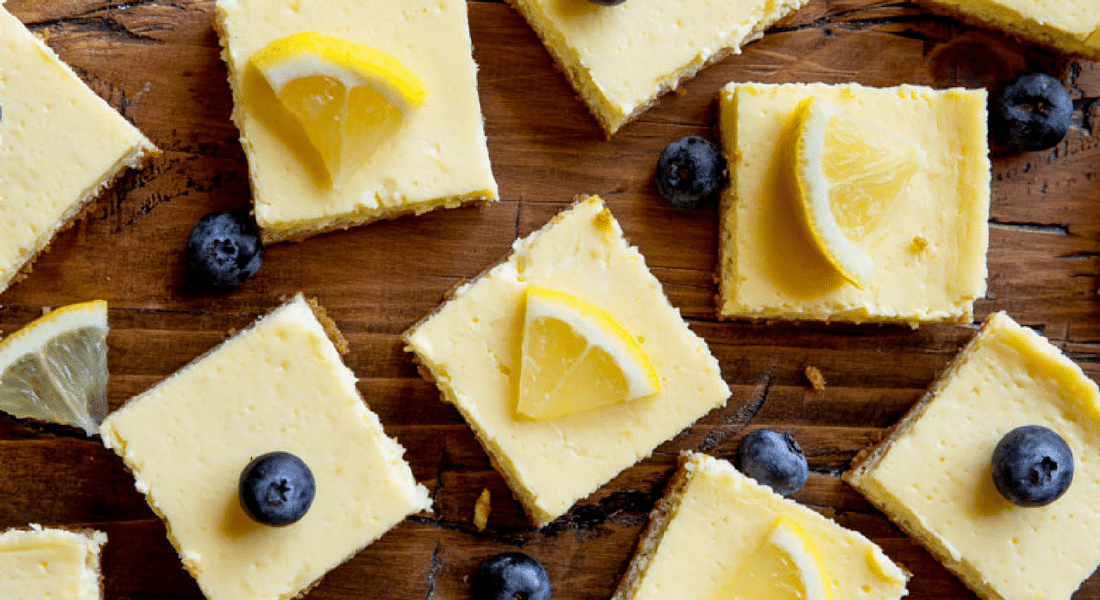Healthy Greek Yogurt Lemon Bars