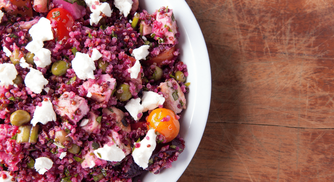 Quinoa Beet Rice Salad