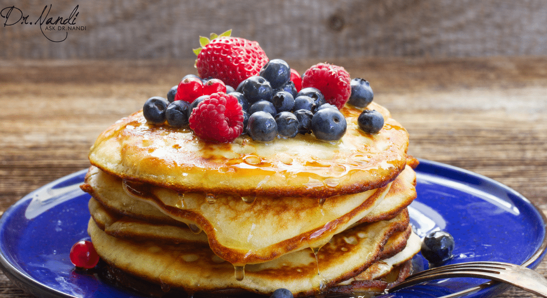 Blueberry Rice Flour Pancakes