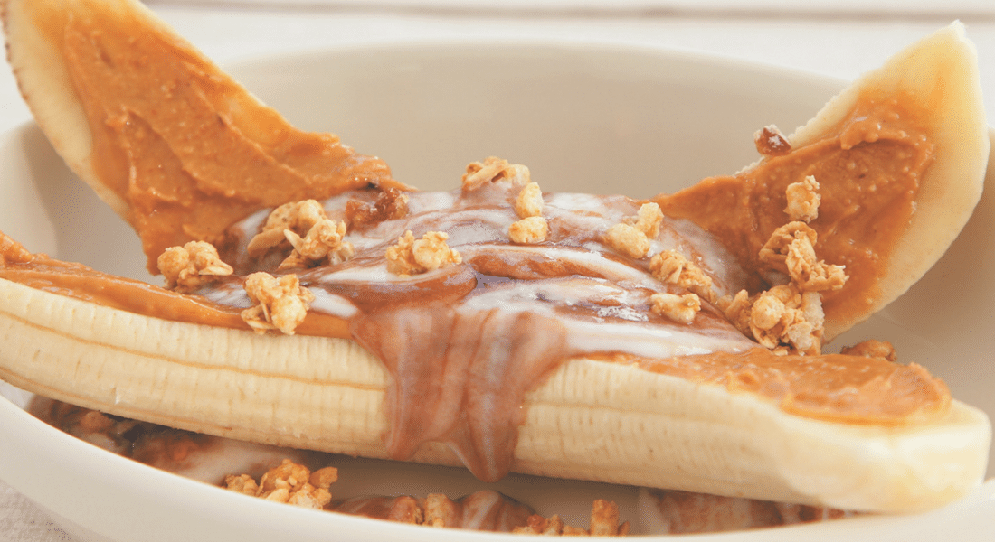 Chocolate Peanut Butter Breakfast Banana Split