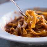 Healthy Fettuccine Sun-Dried Tomato with Mushrooms and Bacon