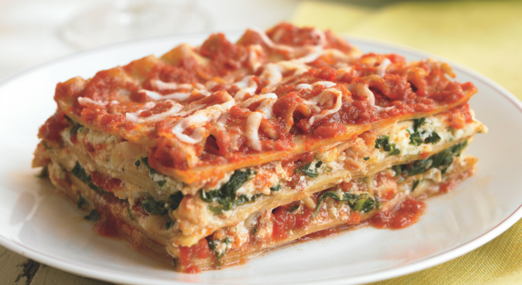 FB Three Cheese Spinach Lasagna