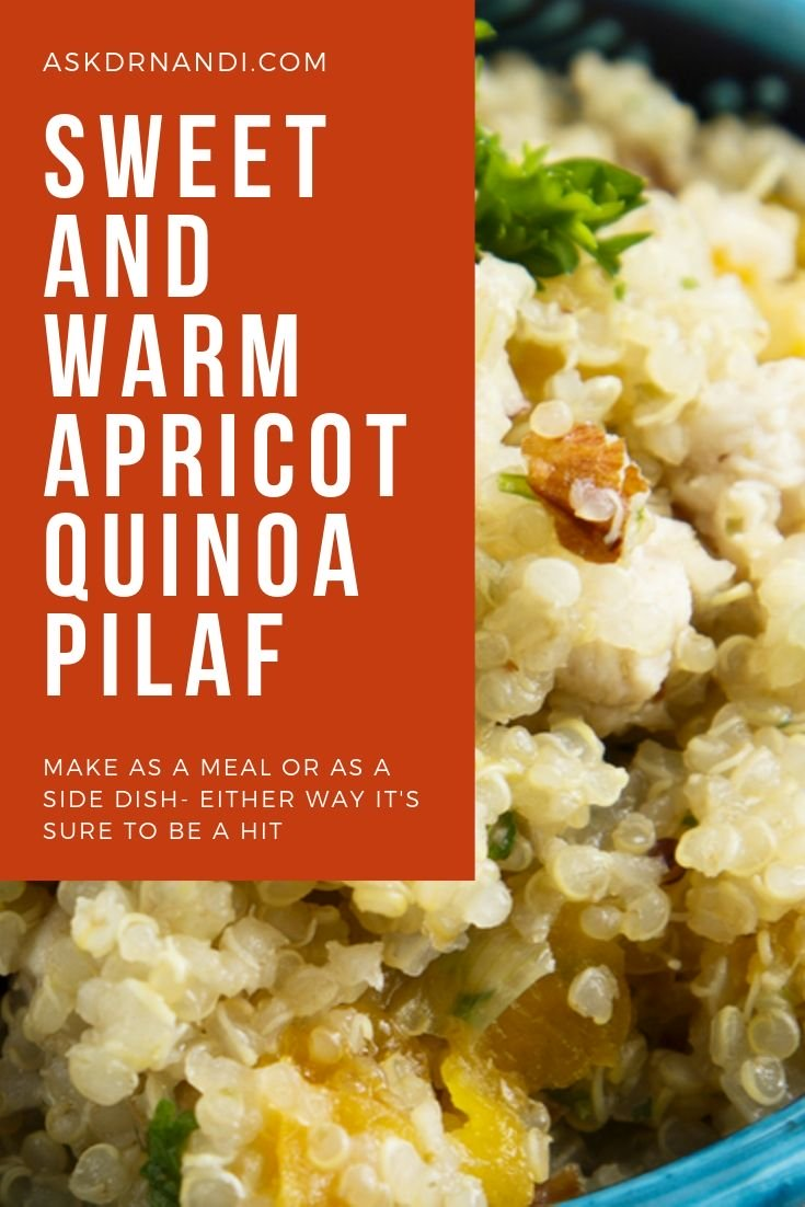 Apricot and Almond Quinoa Pilaf