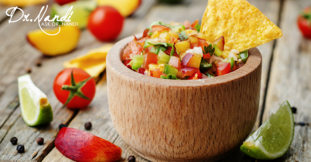 Healthy Peach Salsa