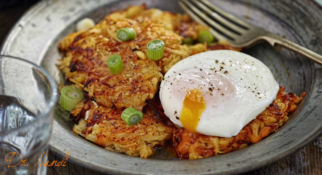 Parsnip and Potato Pancakes with Fried Eggs