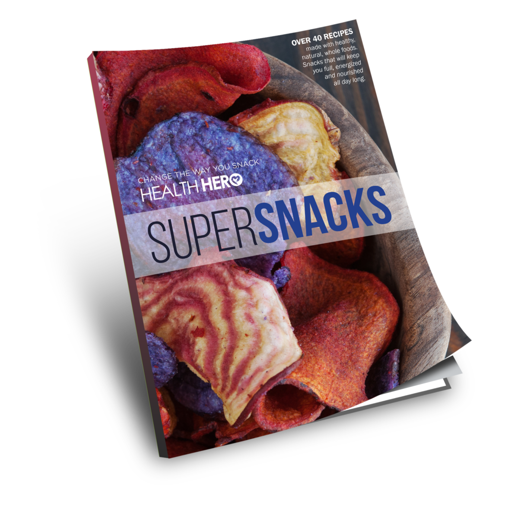 SuperSnacks - hange the way you snack! Over 40 recipes made with healthy, natural, whole foods. Snacks that will keep you full, energized and nourished all day long.