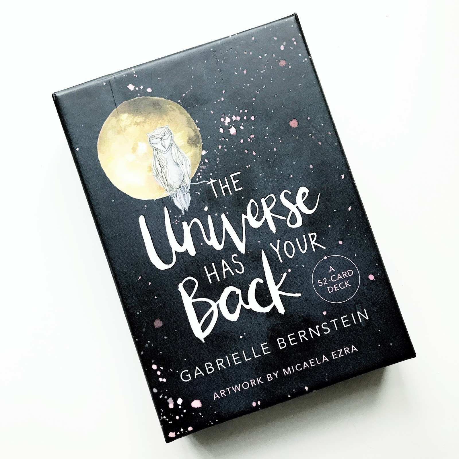 The Universe Has Your Back This inspiring 52-card deck offers spiritual guidance to help you find strength when you are down, synchronicity and support when you are lost, safety in the face of uncertainty, and joy in all circumstances.