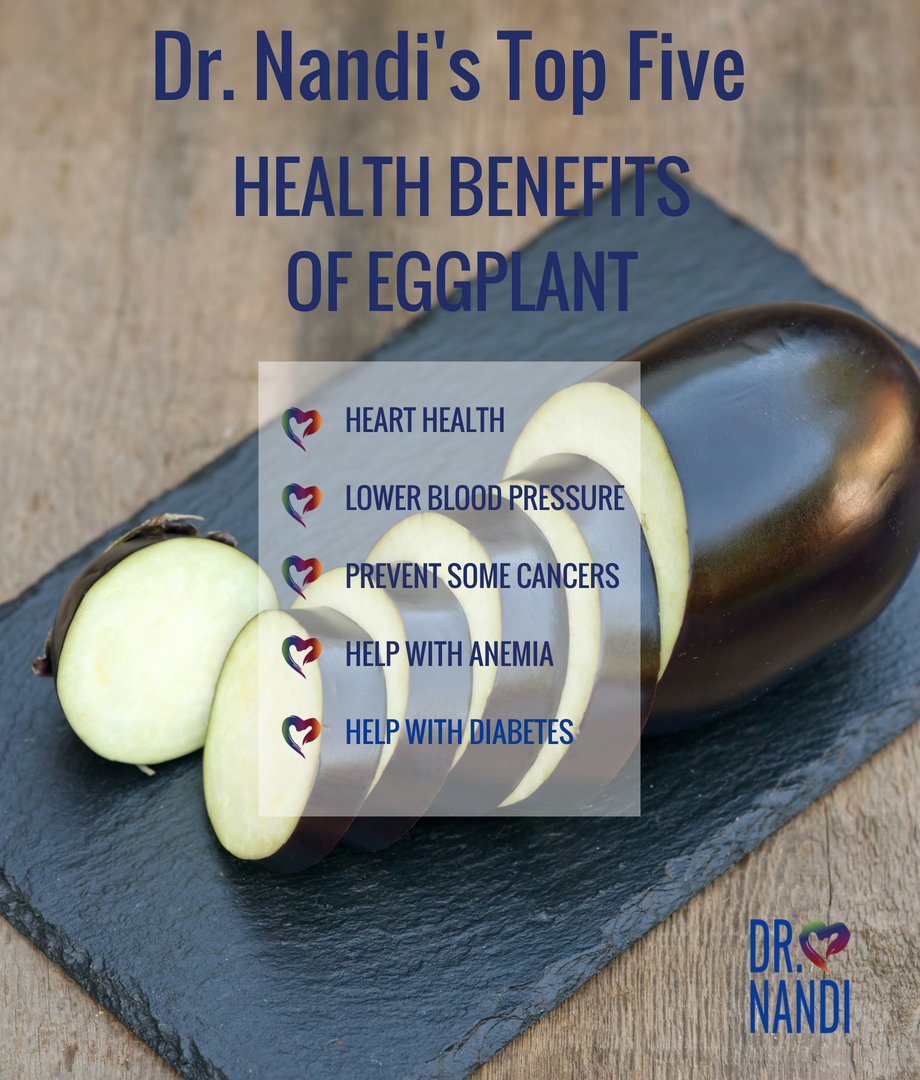 Heal Your Heart, Lower Blood Pressure, Help Anemia with Eggplant
