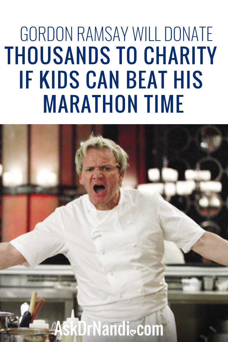 Gordon Ramsay Will Donate Thousands To Charity If Kids Can Beat His Marathon Time
