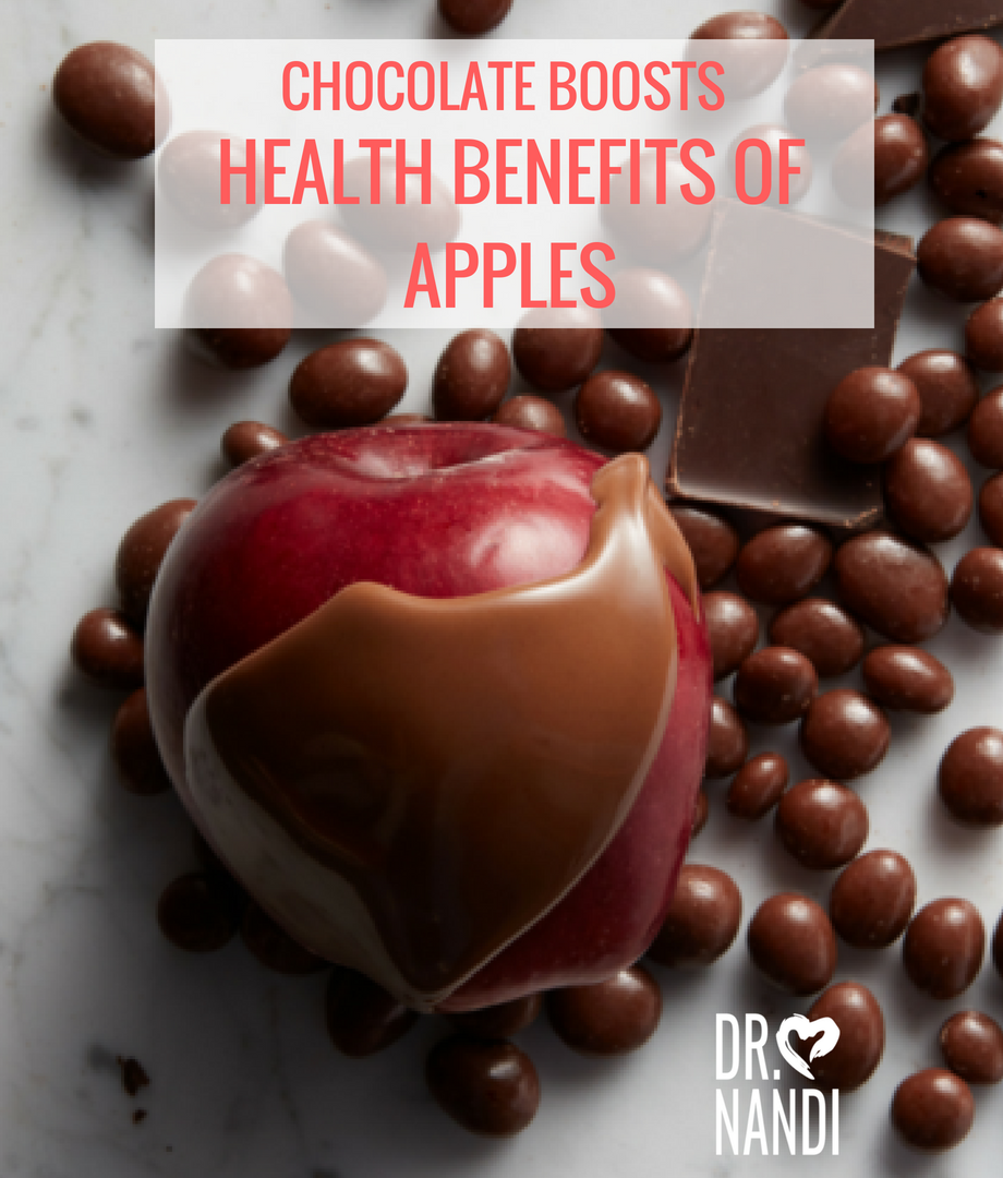 Chocolate Boosts Health Benefits of Apples