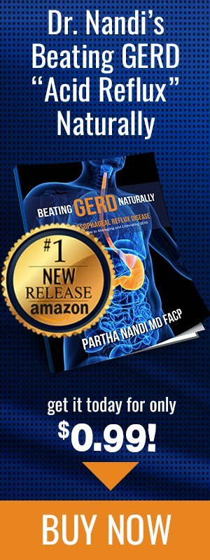 Get Dr. Nandi's Beating GERD Naturally today for only 99 cents!