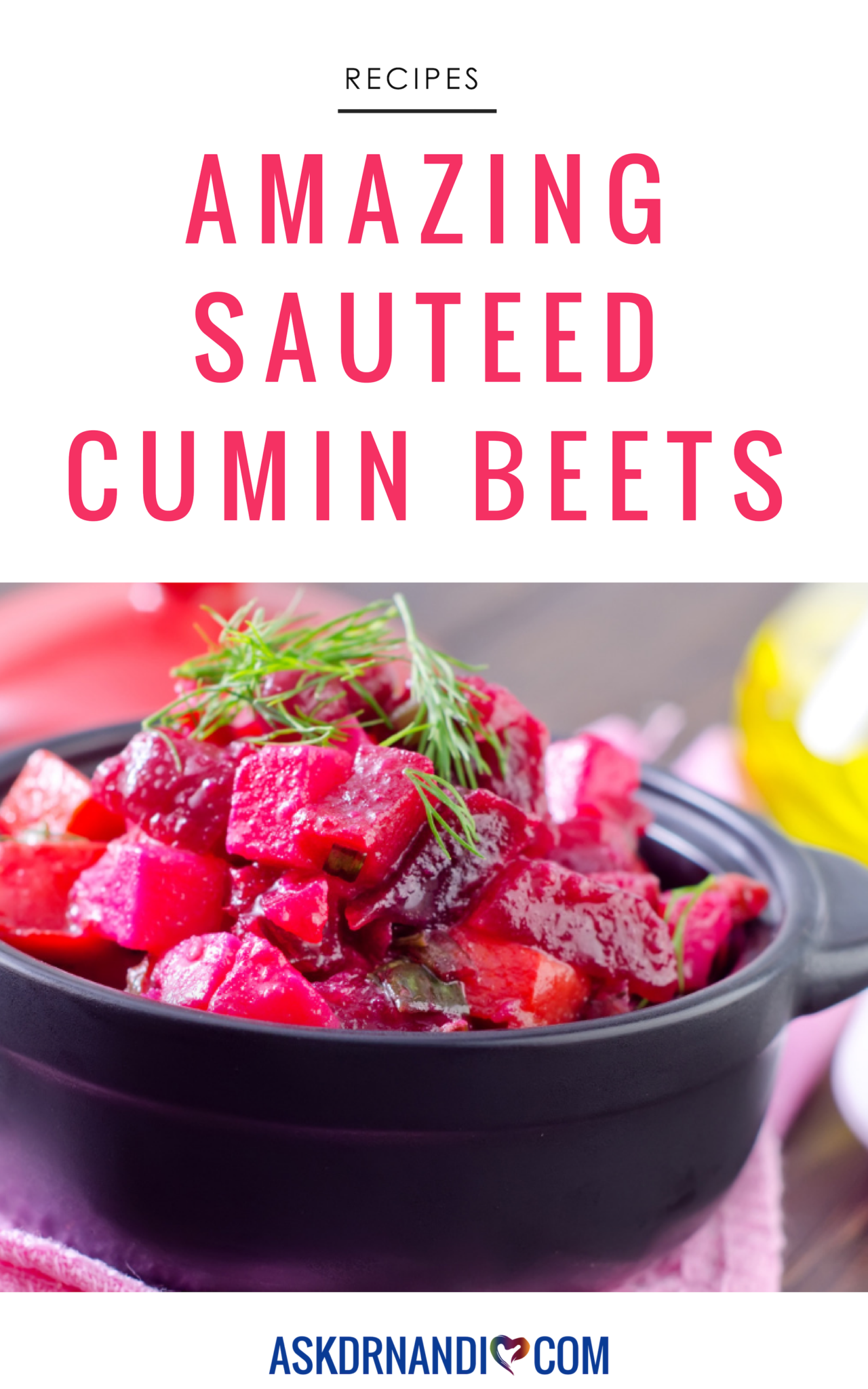 Cumin Beets to Boost Energy