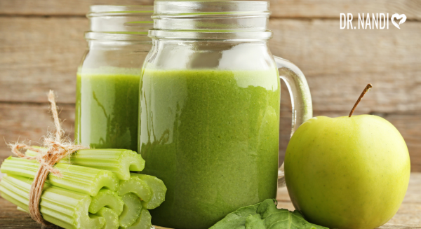 celery juice, apple juice