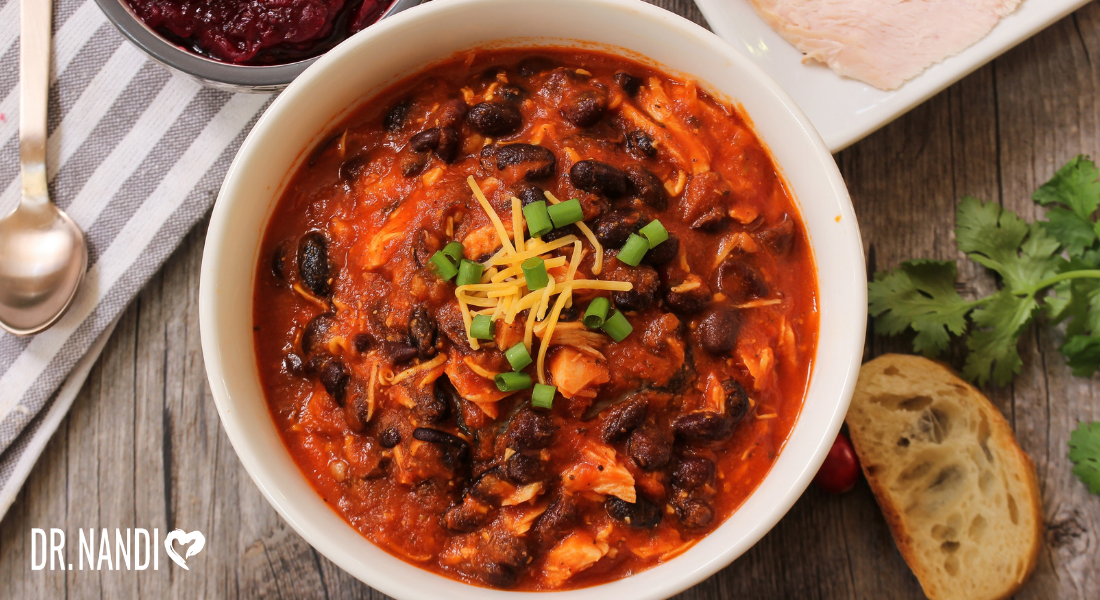Simple Slow Cooker Leftover Turkey Chili