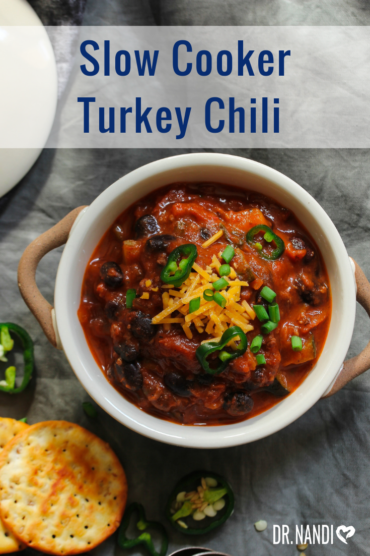 This Amazing Slow Cooked Turkey Chili Recipe is perfect for any leftover meal, especially after Thanksgiving! Give it a try and us know what you think!