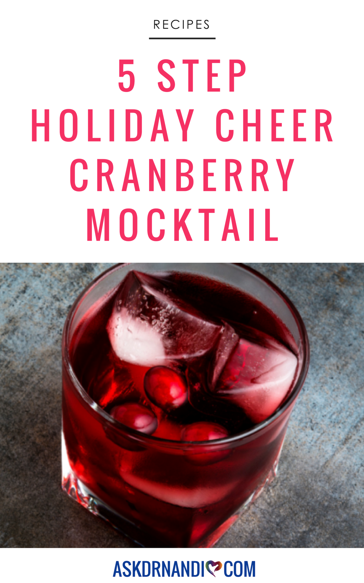Holiday Cheer Cranberry Mocktail