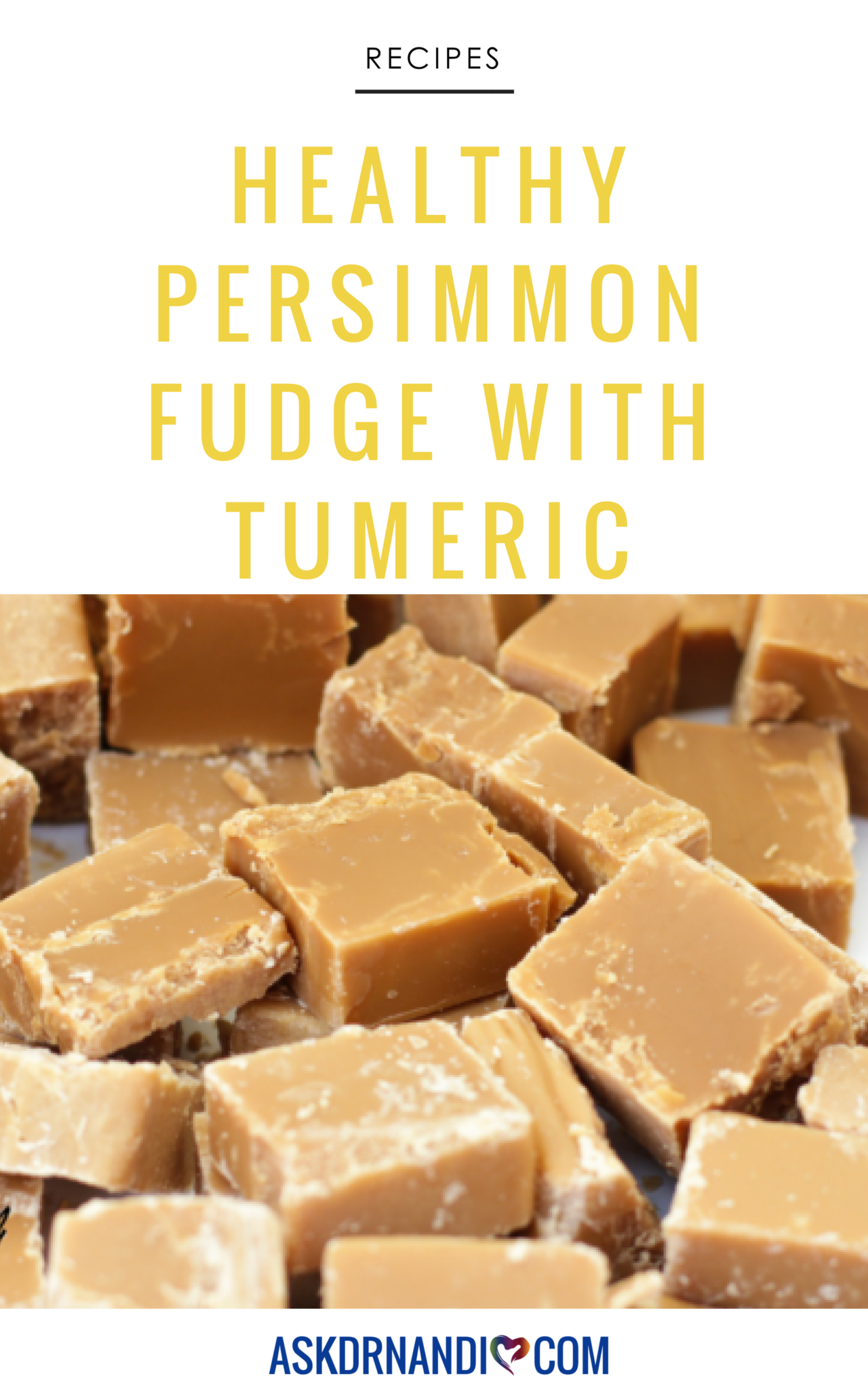 Persimmon Fudge with Turmeric