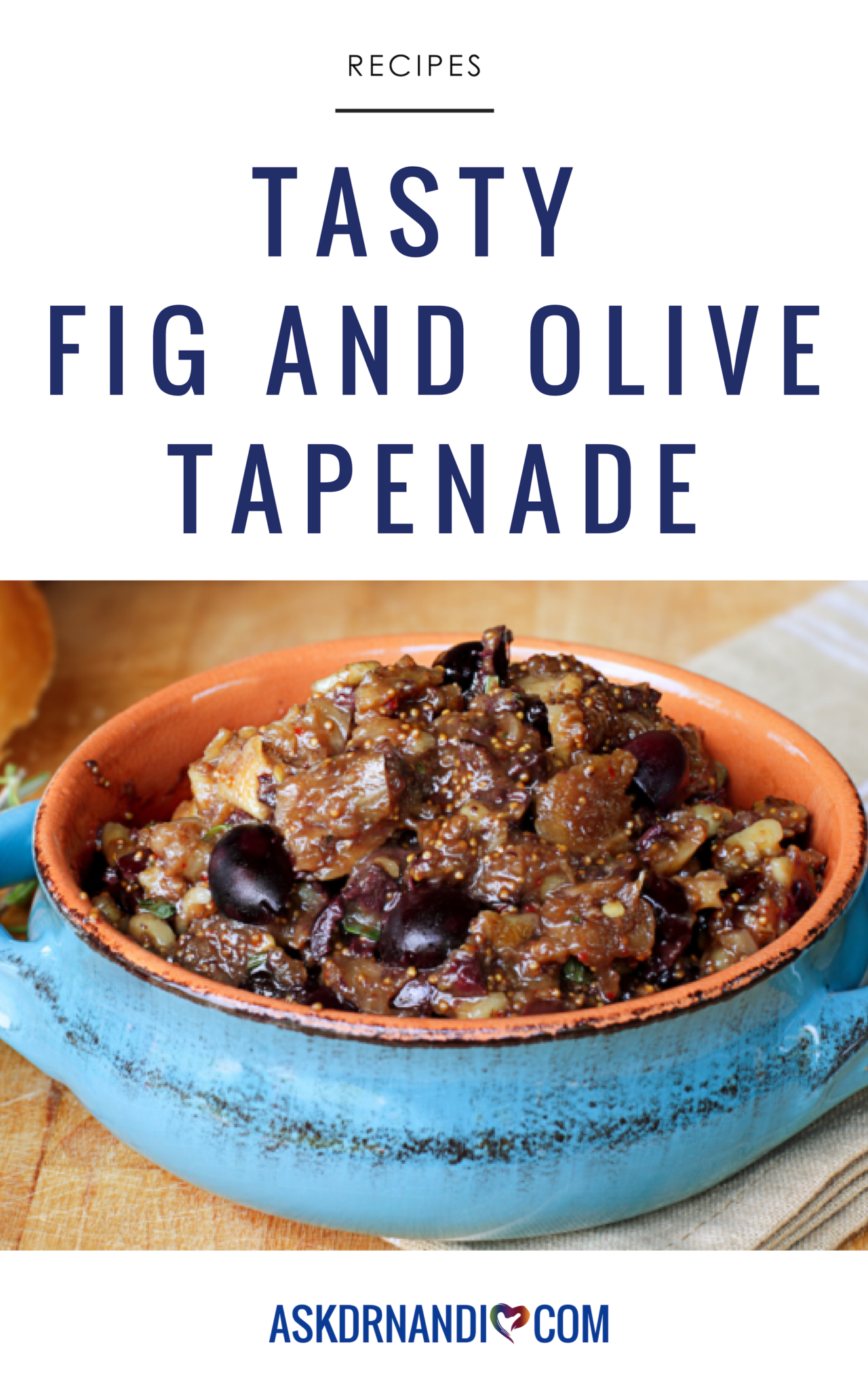 This Fig and Olive Tapenade Recipe is full of fiber, calcium, magnesium, and potassium! Print or Pin it and save it forever!