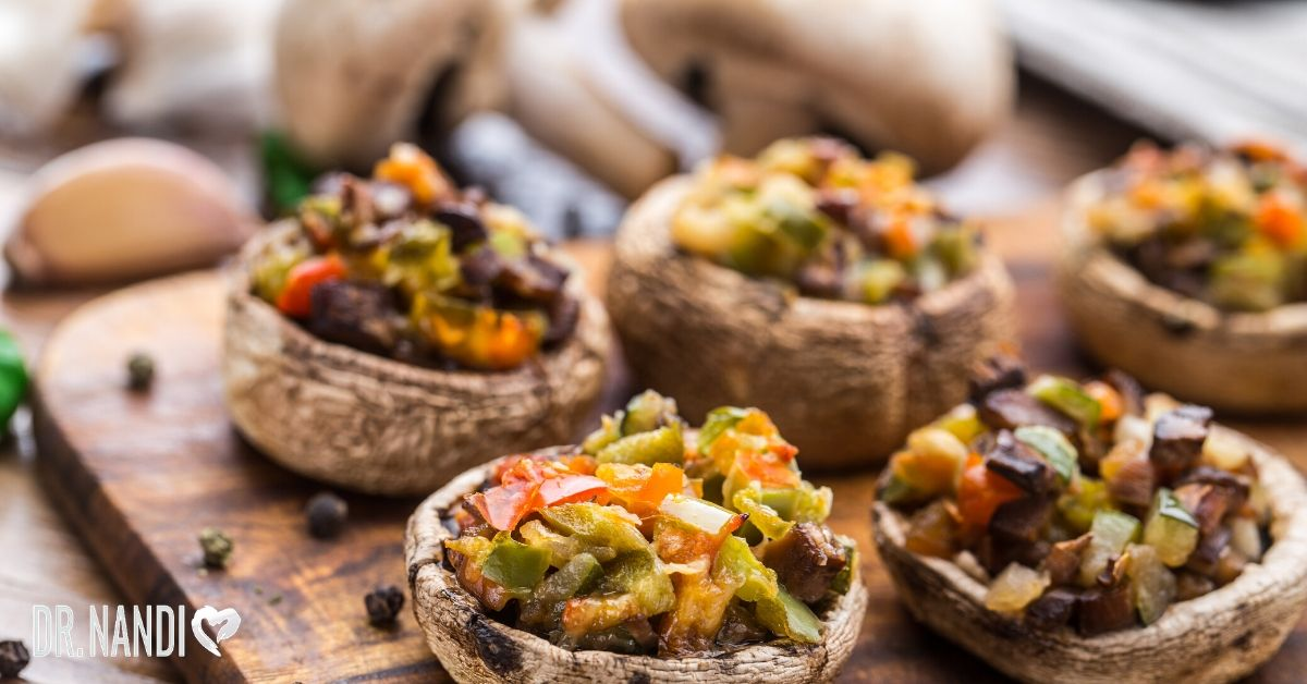 15 Minute Stuffed Portobello Mushrooms