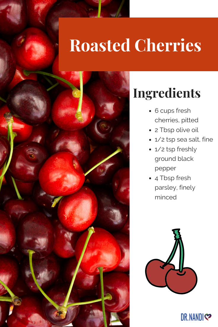 Delicious Roasted Cherries