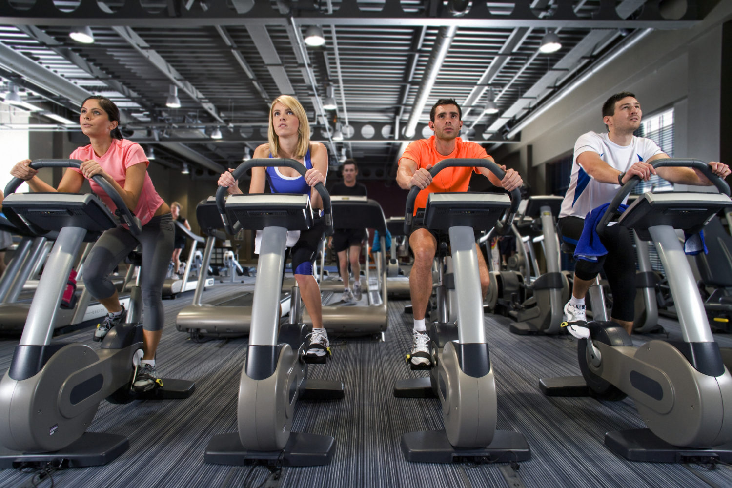 Sweat, bleach and gym air quality: Chemical reactions make new airborne chemicals